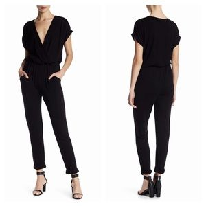 YFB Colleen black V-neck lounge weekend jumpsuit S